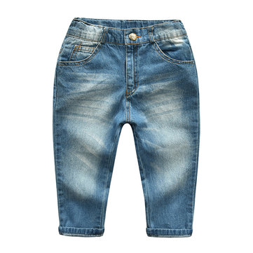 Baby Boy Medium Blue Next Jeans Elastic Waist High Quality Goods Age 9-12 Month