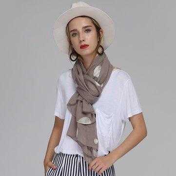 180 सीएम महिला कढ़ाई डॉट्स लंबी स्कार्फ शॉल