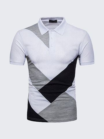 Polo shirt golf en patchwork