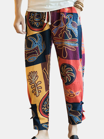 Ethnic Style Printed Loose Harem Pants