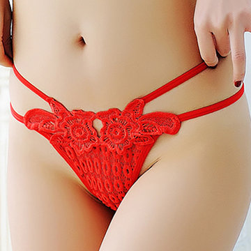 Sexy Knitted Bandage Hollow Thongs