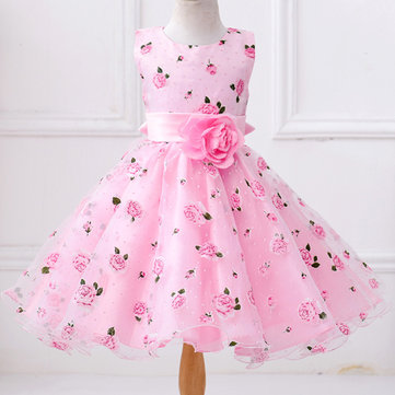 Flower Girls Princess Dress For 3Y-11Y