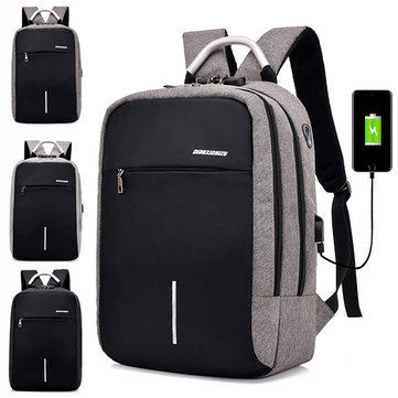 Multifunctional Anti-theft 16 inch Laptop Backpack For Men, Light grey black deep grey