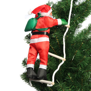 climbing santa with rope ladder outdoor christmas home party decorations