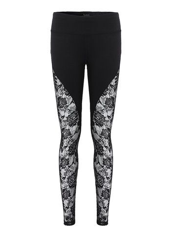 Sexy Flower Mesh Stretch Yoga Leggings
