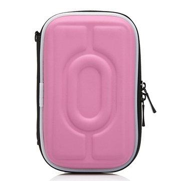 Women PU Leather Digital Bag Mobile Disk Storage Bag