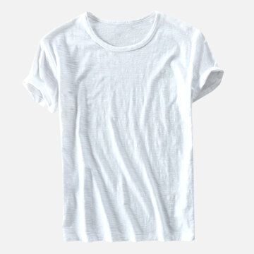 Mens 100% Cotton Loose T-Shirts