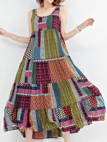 Boho-Patchworkkleid