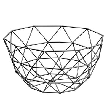 Nordic Style Iron Art Fruit Container
