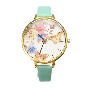 Women's Trendy Watch Flower Butterfly Leather Watch