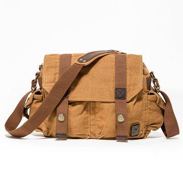 Sacos de mensageiro de cinto de lona de algodão QC Crossbody Bag