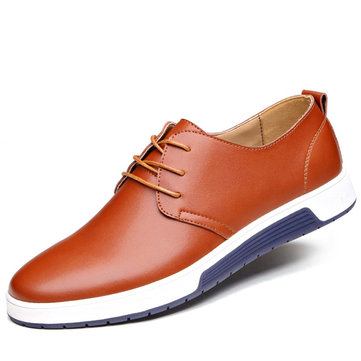 Men British Style Leather Casual Shoes