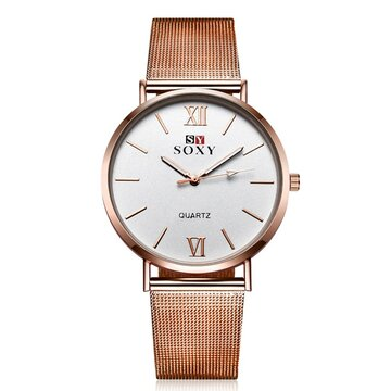 SOXY Vintage Watch Simple Alloy Rose Gold Women Watch