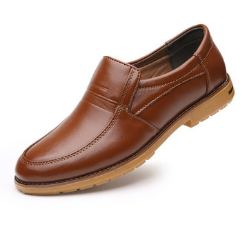 Men Genuine Leather Soft Causal Shoes