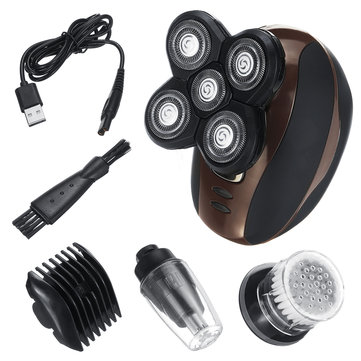 4 In 1 5-Head Men Cordless Electric Shaver