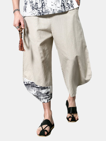 Vintage Linen Cozy Calf Length Pants