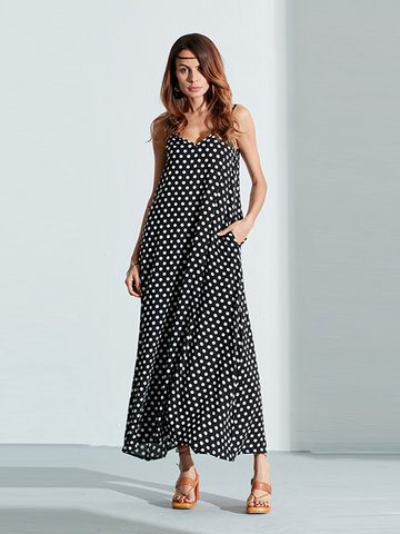 Bohemian Polka Dot Beach Dress