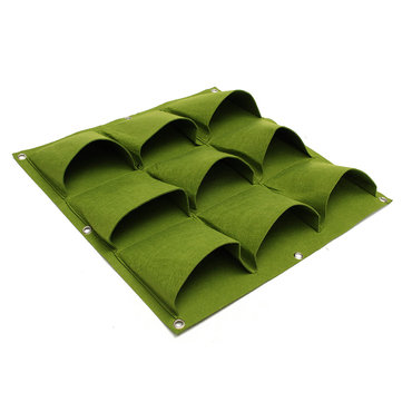 9 Pockets Green Wall Planter Garden