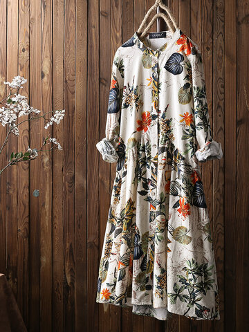 bb1b9125fac Floral Print Long Sleeve Dress
