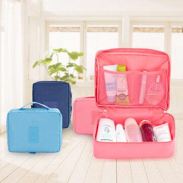 Multifunction Square Nylon Travel Makeup Storage Bag
