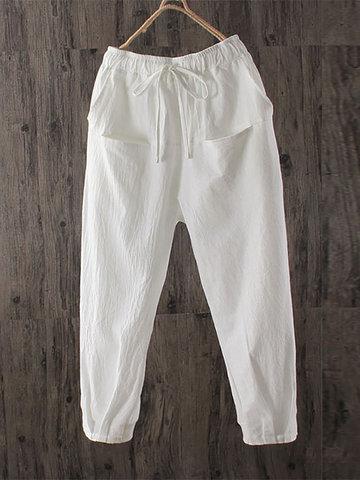 Pantalones elásticos de cintura elástica
