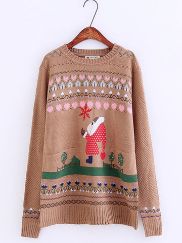 51d485210b Cute Christmas Pullover Sweater