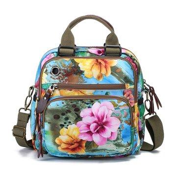 في الهواء الطلق الأم حقيبة زهرة نمط حقيبة الكتف