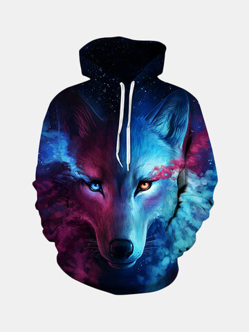 Sudadera con capucha Unisex Star and Wolf Digital 3D Printing