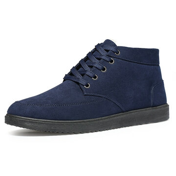 Men Warm Lining Lace Up Boots