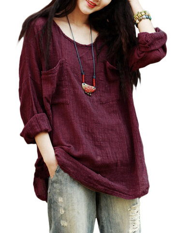 Pure Color Loose Shirts 72c87ba02c8d