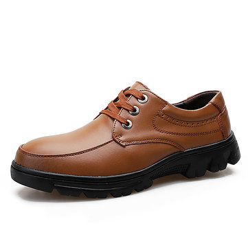 Large Size Men Genuine Work Leather Shoes