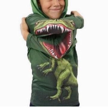 Sudadera con capucha de dinosaurio para niños 3-11Y