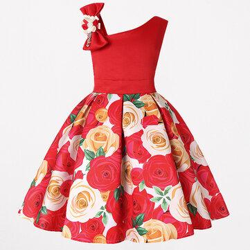 Kleinkind-Weihnachtsblume Kleid für 3-13J