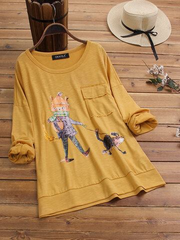 Print Cartoon Casual T-Shirt