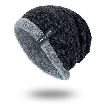 Knitted Plus Velvet Fashion Beanie Hats