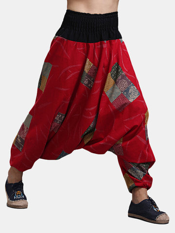 Ethnic Style Casual Baggy Loose Pants
