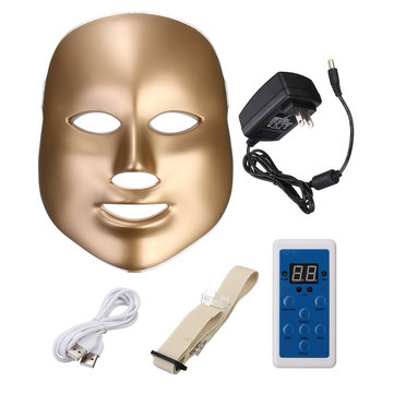 7 Colors LED Photon Skin Rejuvenation Facial Neck Mask Beauty Therapy Machine Firming Tightening