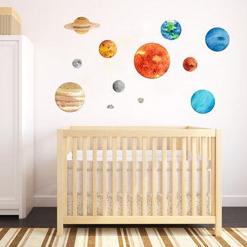 Nine Planets Lunar Luminous Stickers