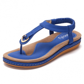 Comfy Elastic Clip Toe Beach Sandals