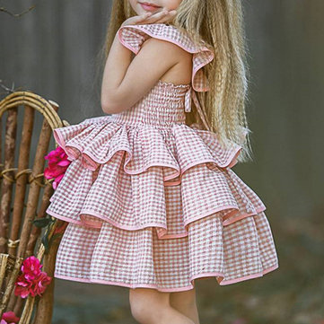 Girls Princess Layers Dress 1Y-7Y