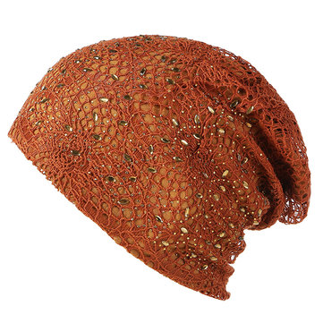 Thin Hollow Breathable Beanie Cap