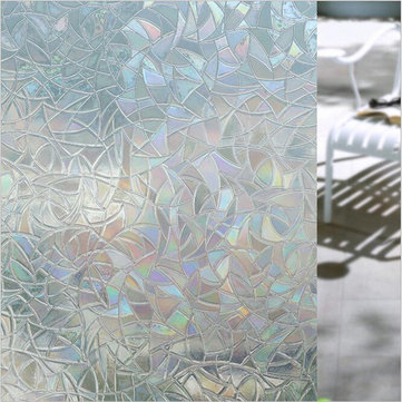 3D No Glue Static Decorative Frosted Privacy Window Films Fo