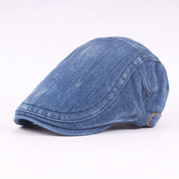 Denim Washed Beret Cap