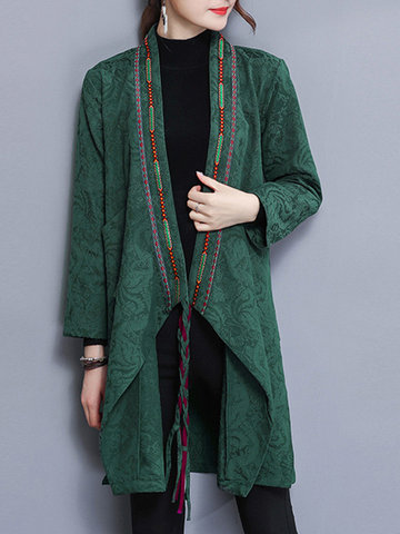 Vintage Embroidery Women Coats
