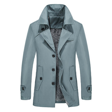 Winter Warm Thick Business Casual Trench Coat