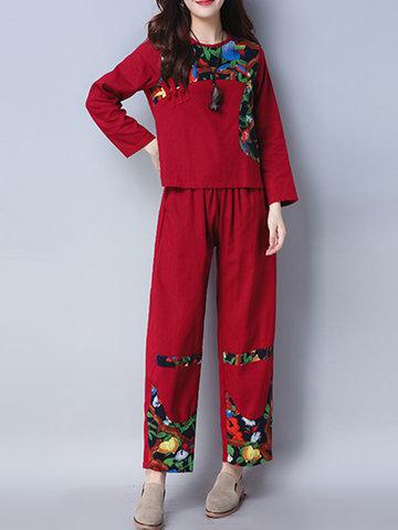 87dd6c401de Buy plus size white linen pants suit Online