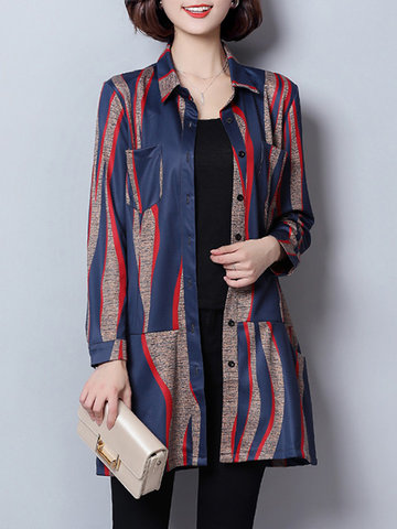 Casual Printed Women Coats