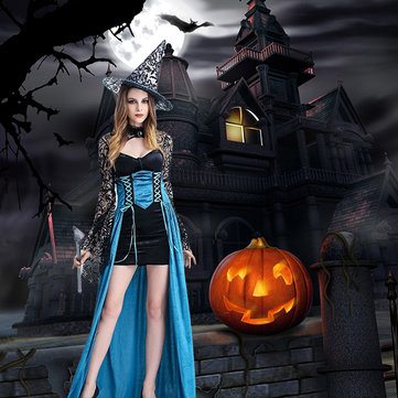 Halloween Sexy Lace Sleeve Dress Costumes 31d31789cf75