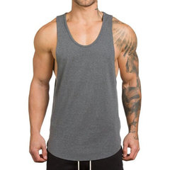 17cb8fce8a33 Mens Summer Sleeveless Cotton Breathable Sweat Loose Fit Workout Tank Tops