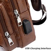 09c3769816 Men Large Size Outdoor USB Charging Port Chest Bag Travel Daypack Sling Bag  Crossbody Bag For